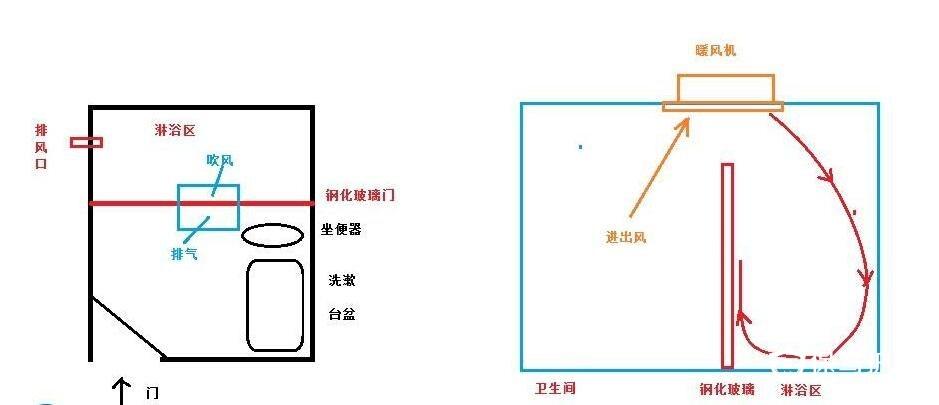 浴室暖风机安装线路图