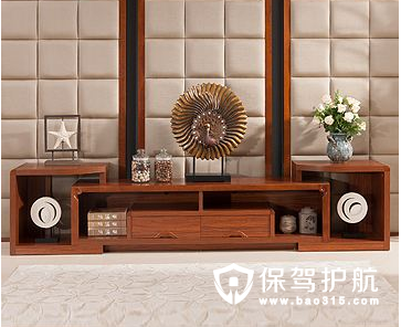 实木中式电视柜的尺寸和优缺点