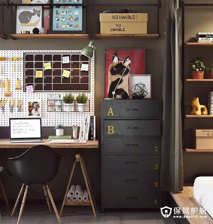 简约整洁的公寓卧室一角