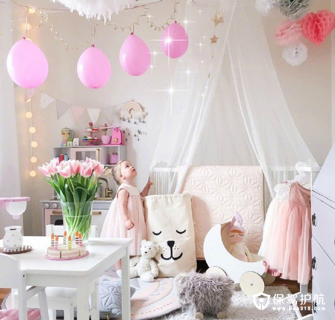 粉色气球公主梦卧室