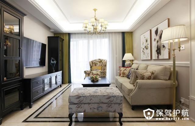 轻硬装重软装客厅设计
