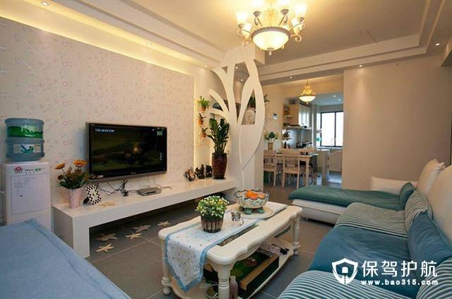 两居室87平米田园风格案例