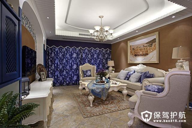 130平米三居室地中海风格案例