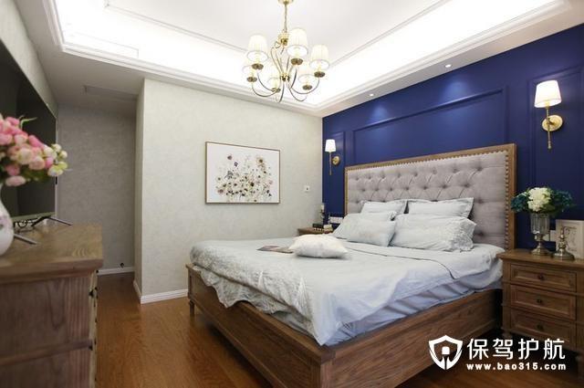 蓝色静谧卧室