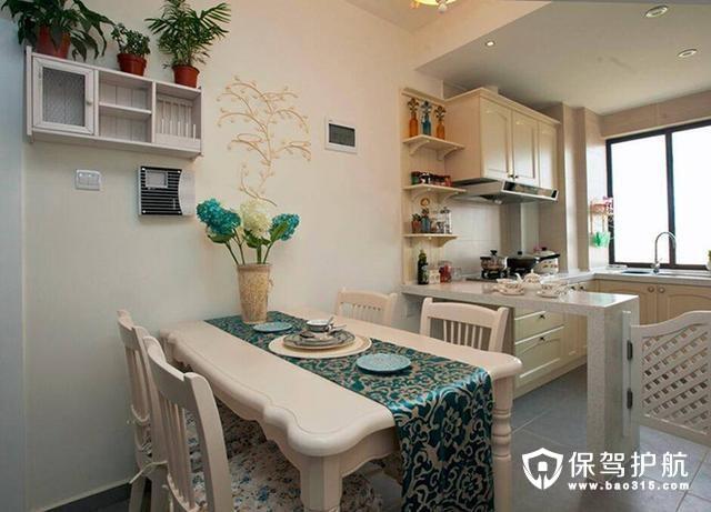 舒适吧台厨房与餐厅