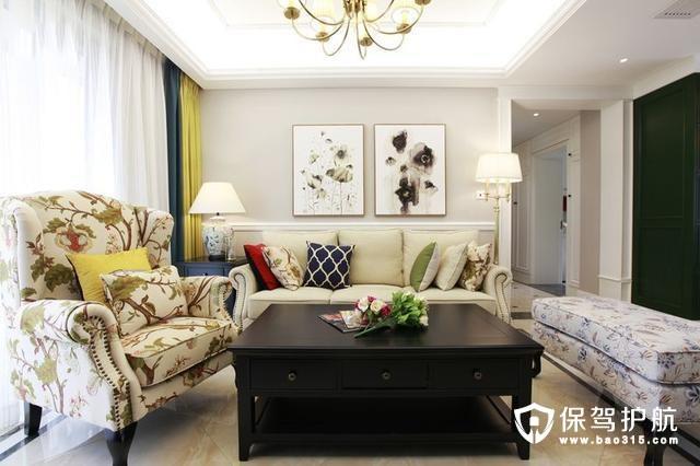 处女座水准的美式客厅