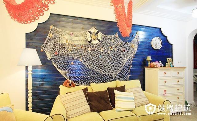 三居室110平米,地中海风格 富有人文精神和艺术气质