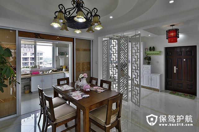 古典温暖开放式厨房