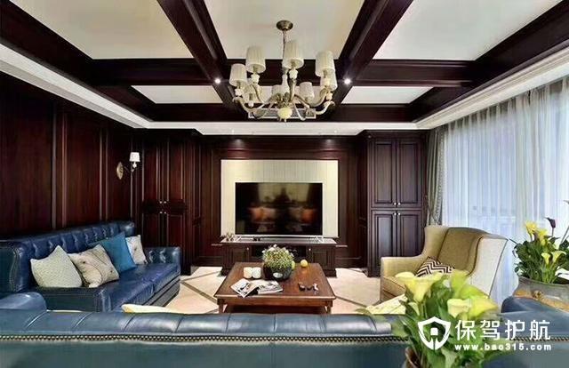 四居室185平米,美式风格整装