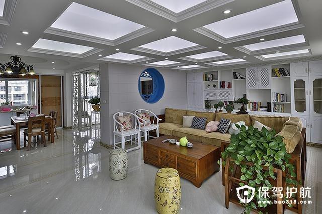 四居室120平米,中式风格  现代小清晰典雅家居