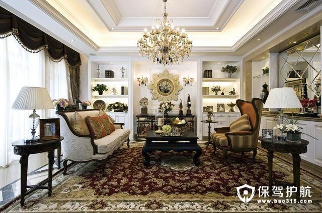 四居室欧式风格装修 营造复古奢华气息
