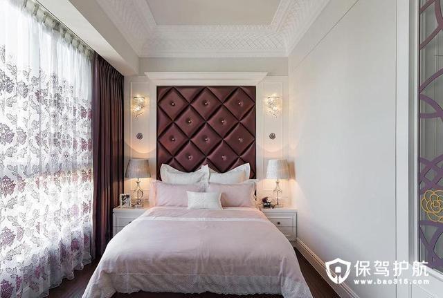 浪漫唯美紫红色卧室设计