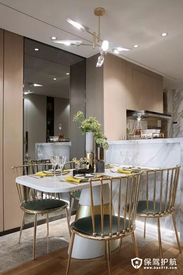 厨房和餐桌间的吧台