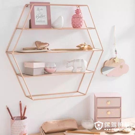 淡粉色置物架