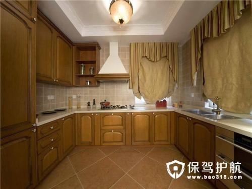 美式整体厨房装修效果图