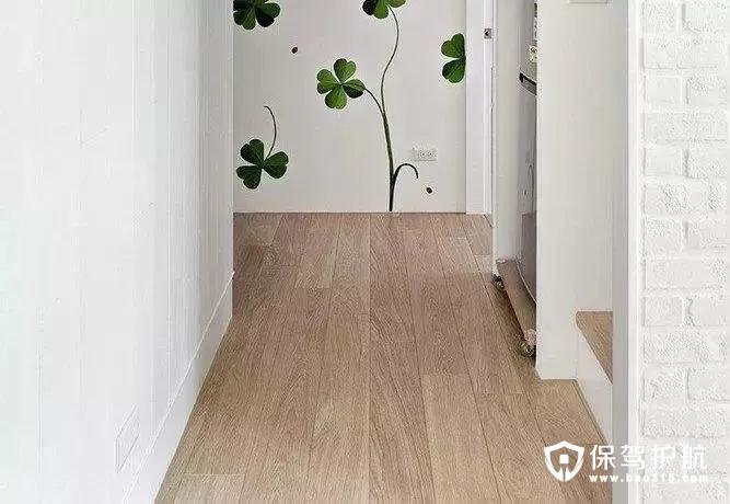 清新绿色的梯间