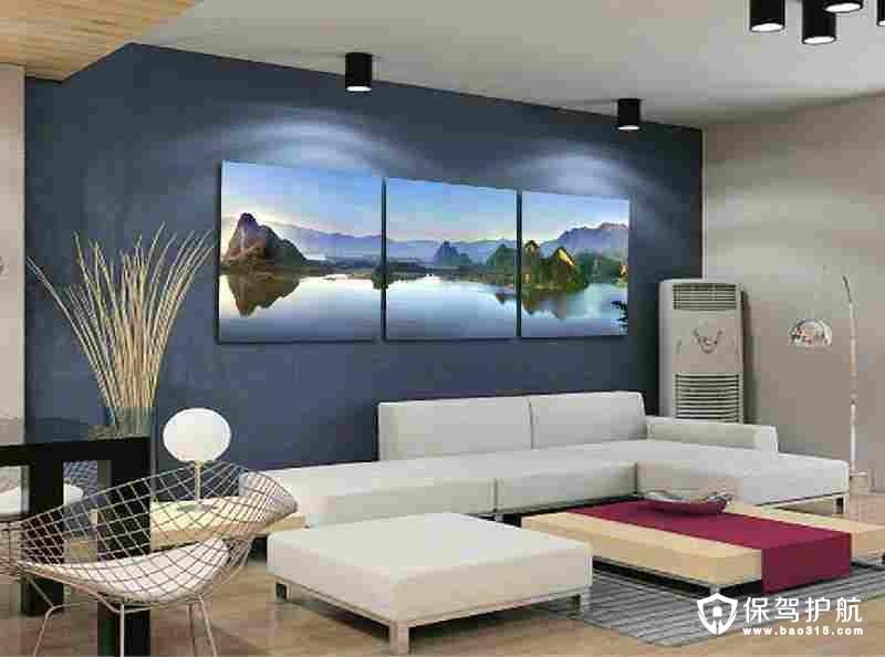 客厅沙发背后挂什么画好