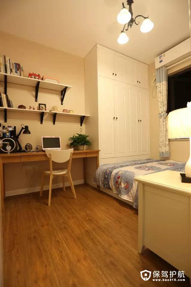 卧室书房一体的简欧设计