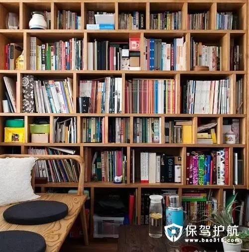 宜家书房书架墙装修效果图