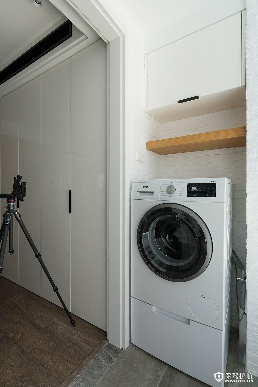 简约阳台洗衣机装修效果图