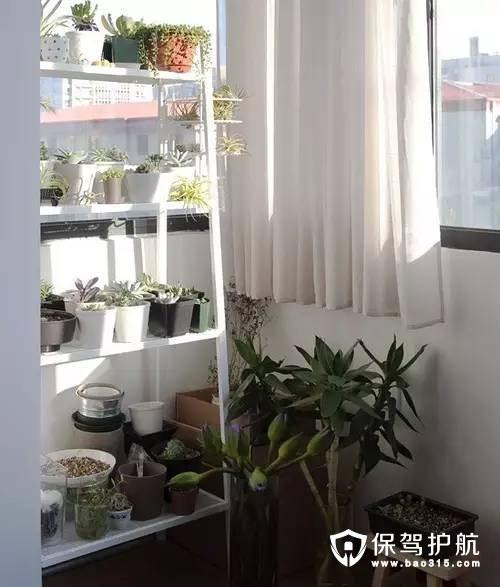 宜家风格清新阳台设计
