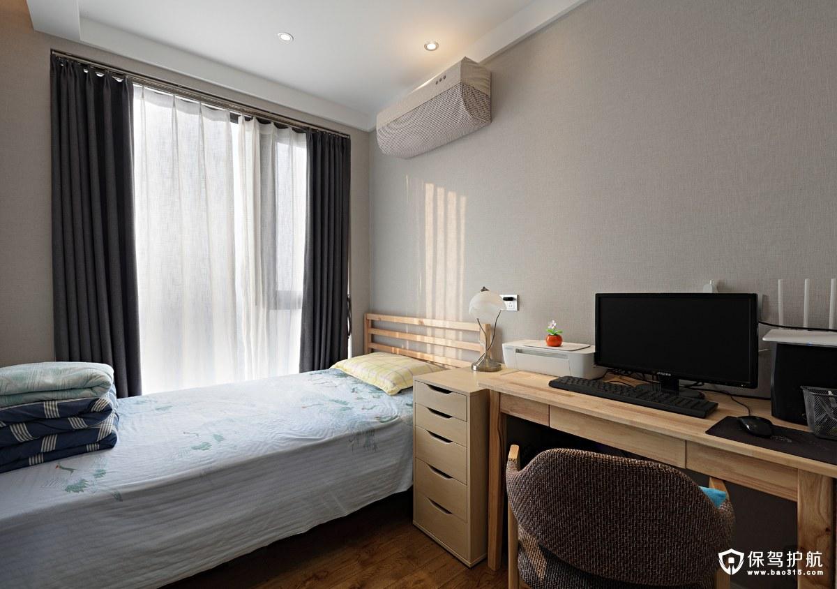 北欧小卧室书房兼客房装修效果图
