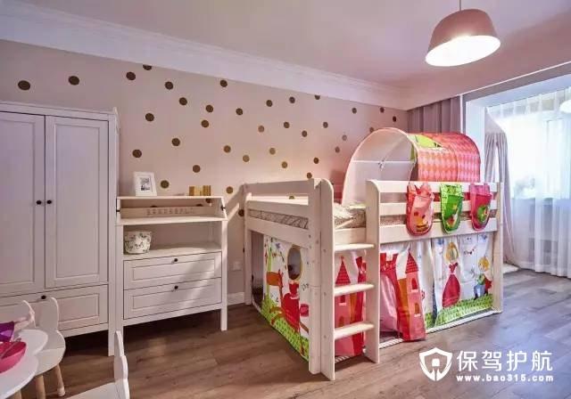 粉色混搭儿童房装修效果图