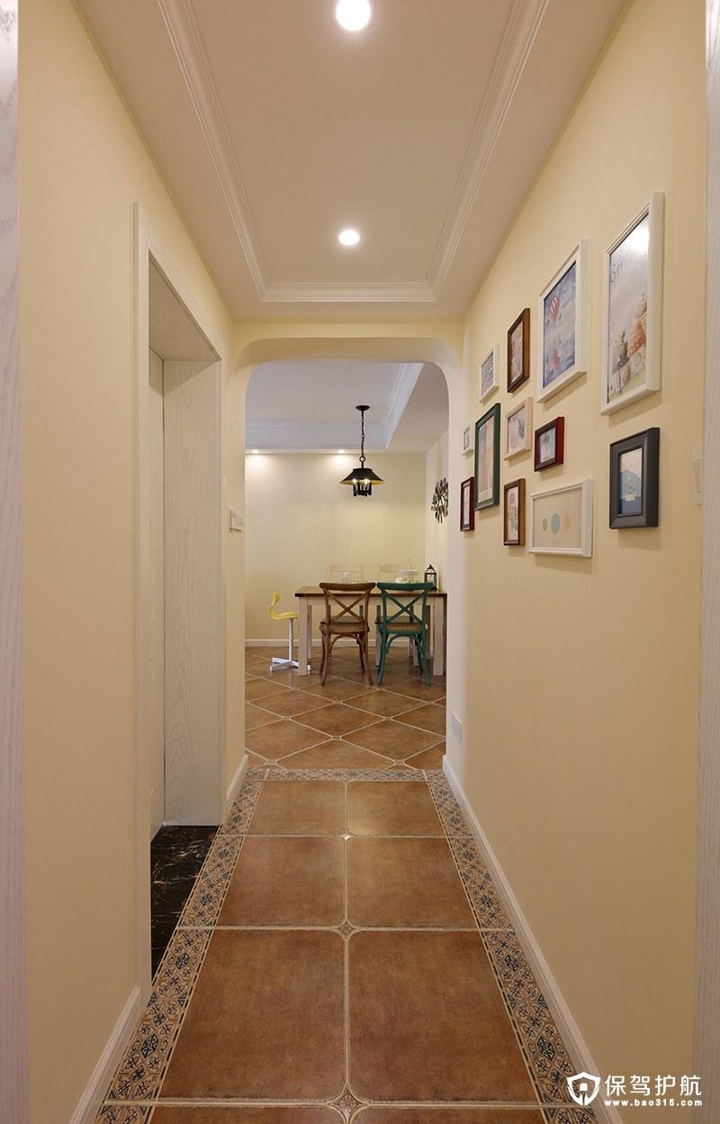 自然而温馨地中海客厅走廊装修效果图