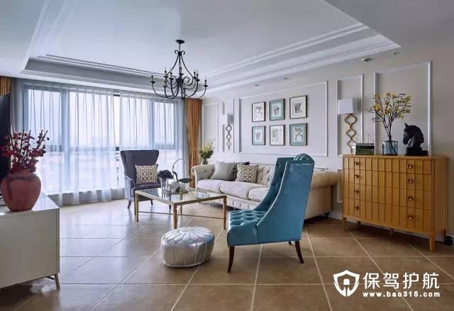 高档奢华简约美式客厅装修效果图