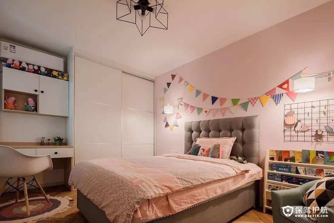 粉色北欧儿童房装修效果图