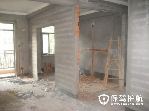 墙体拆改工艺流程及其注意事项