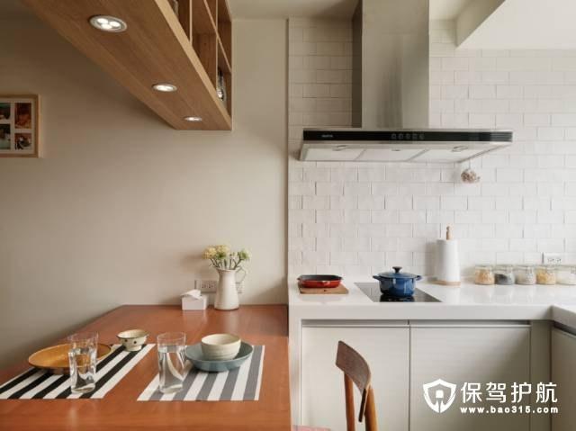 无印良品开放式厨房装修效果图
