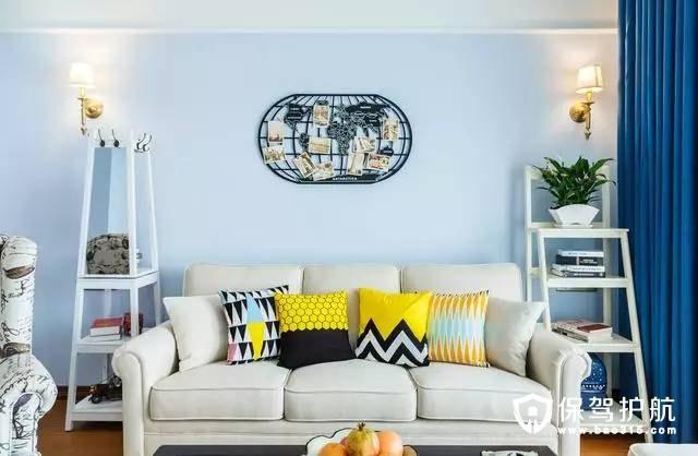 简美客厅布艺沙发装修效果图