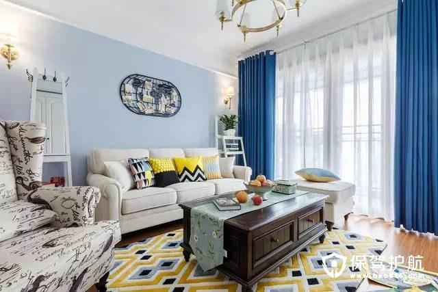 简美客厅沙发背景墙装修效果图