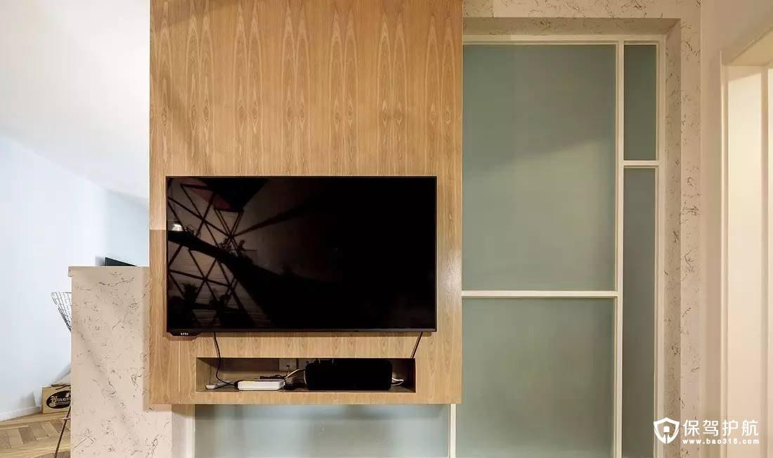 个性时尚北欧客厅电视背景墙装修效果图