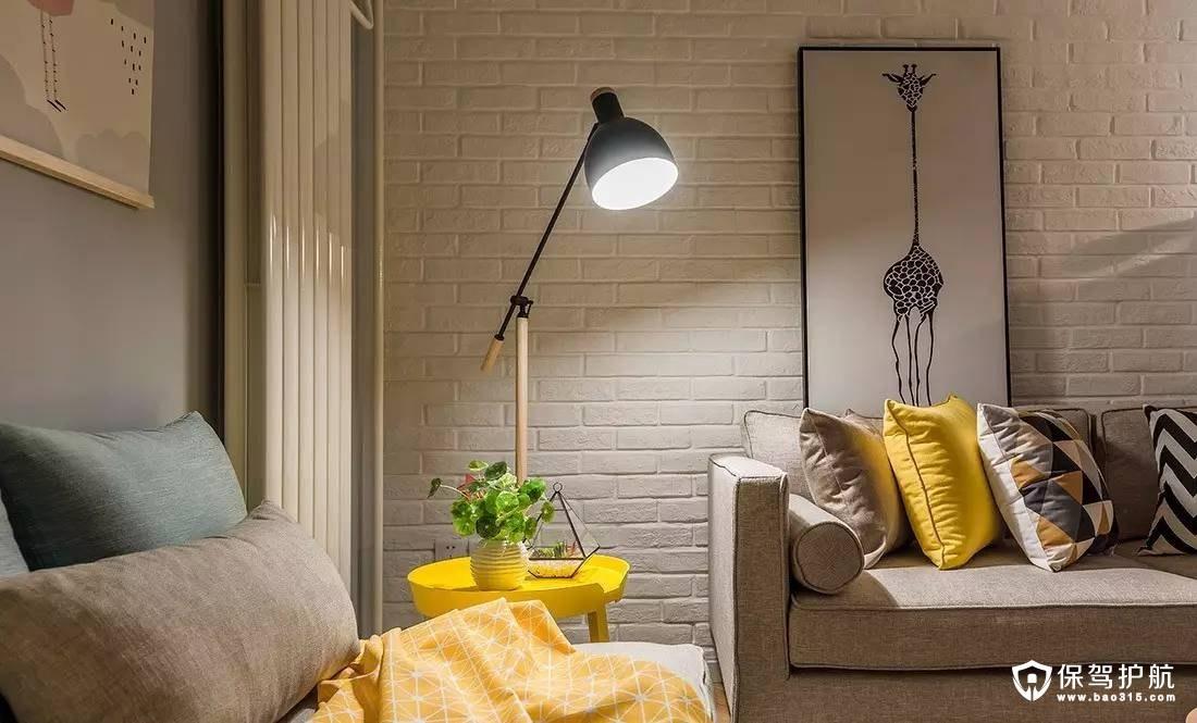 北欧客厅小巧实用落地灯装修效果图