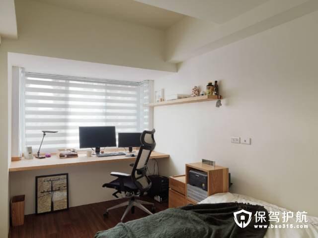 简约日式卧室工作区装修效果图