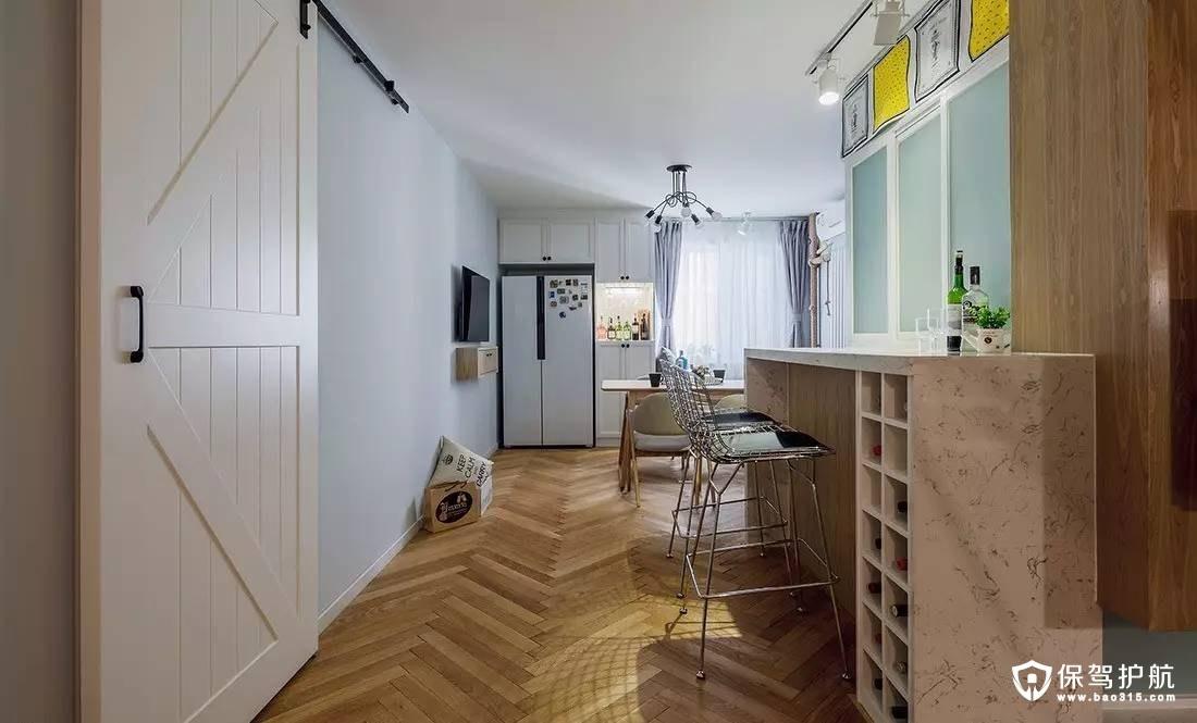 北欧现代厨房吧台装修效果图