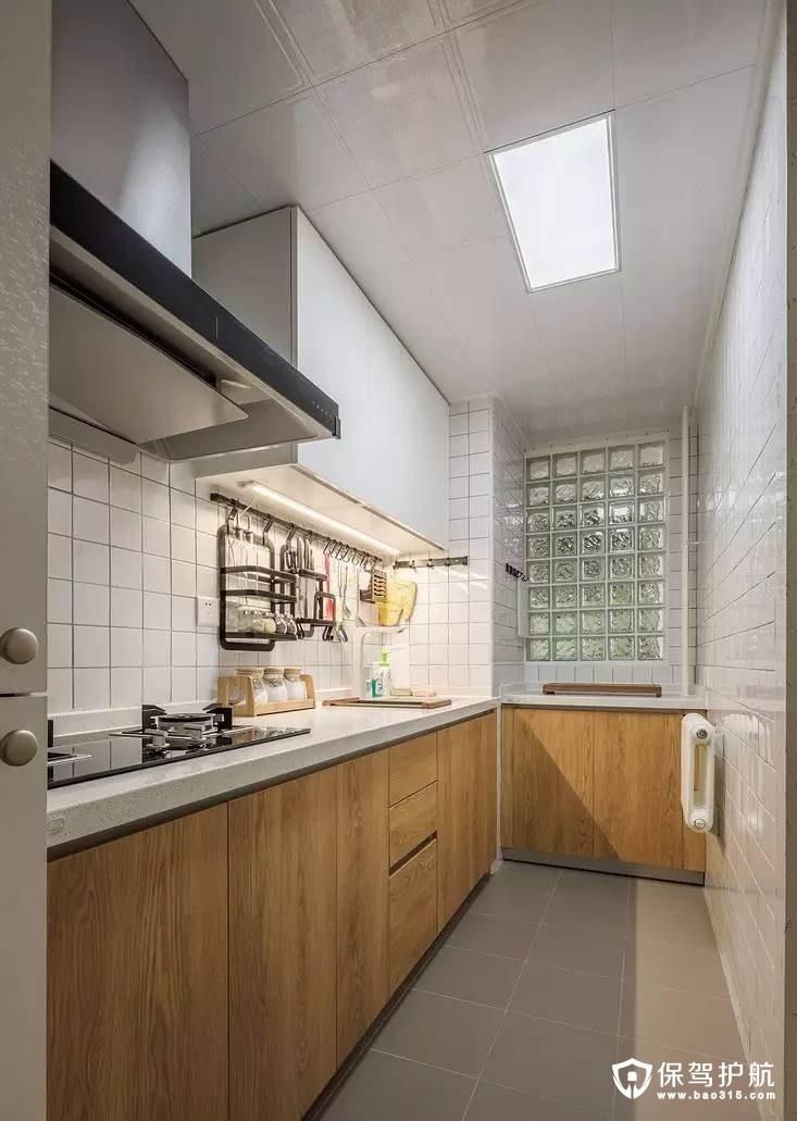 北欧厨房L型填充橱柜装修效果图