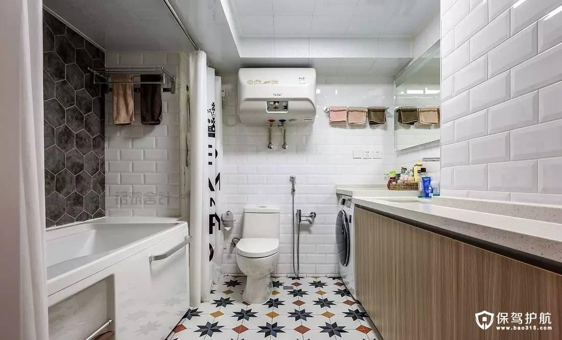 北欧风格奶白色卫生间装修效果图
