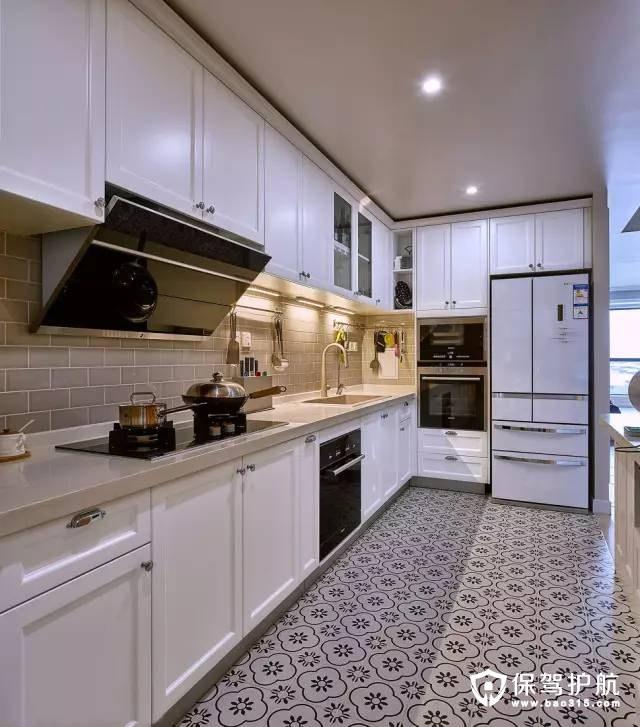 小资大方简约美式开放式厨房装修效果图