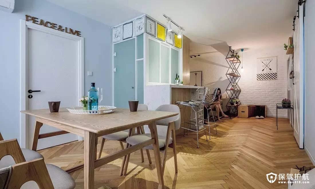 北欧厨房磨砂玻璃门装修效果图