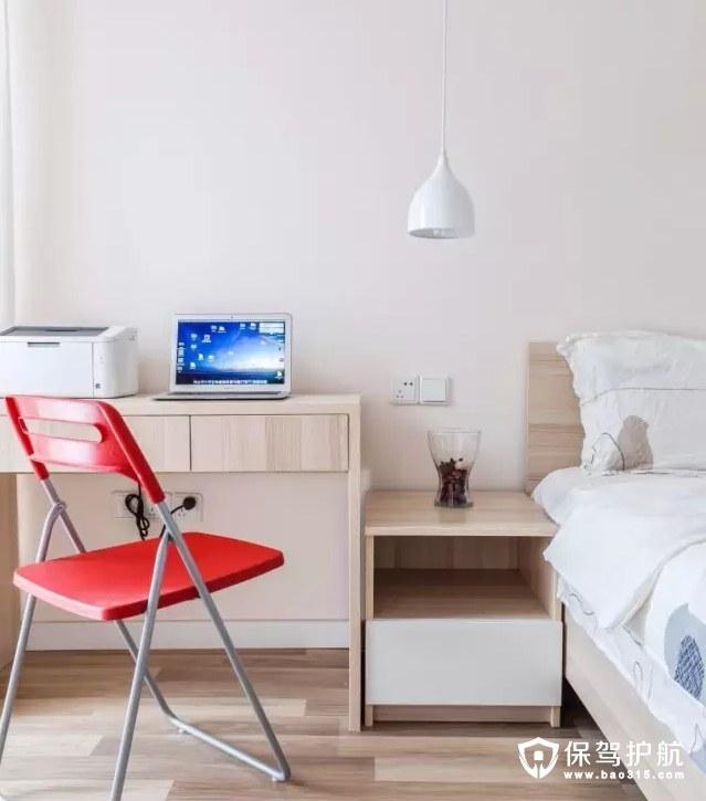 现代简约卧室写字台装修效果图