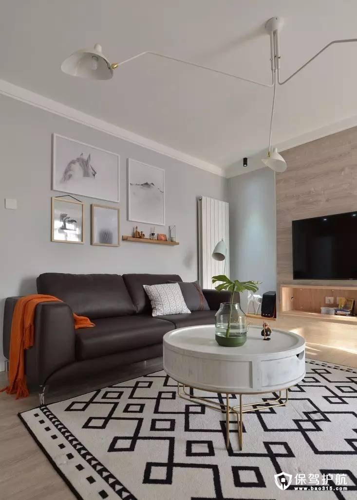 89㎡两室两厅现代风格装修效果图