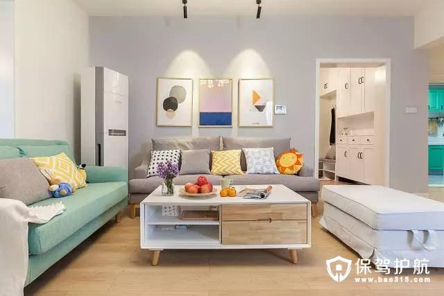 温馨舒适的北欧风格三居室装修案例