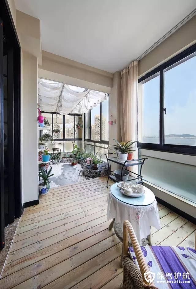 波西米亚风新中式休闲阳台装修效果图