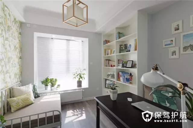 美式风格书房和客房装修效果图