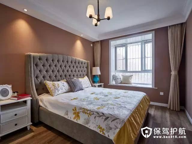 低调奢华混搭卧室高背床头装修效果图