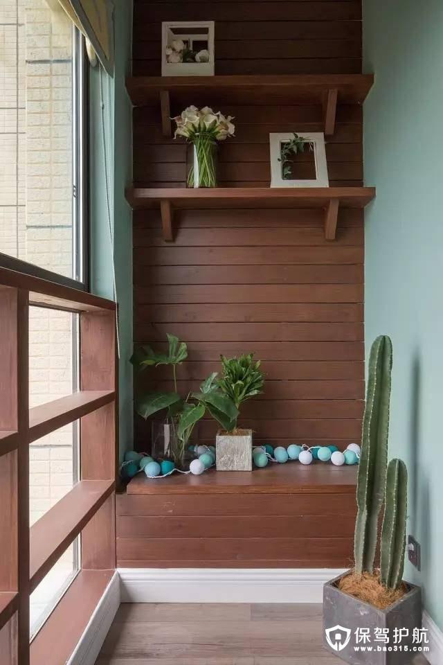 北欧风格花园阳台装修效果图