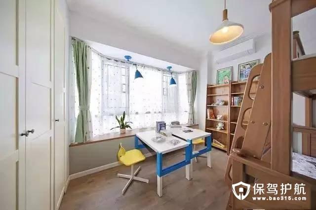 北欧风格儿童房飘窗装修效果图
